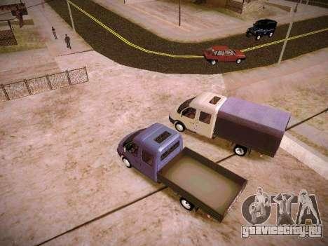 ГАЗель 33023 для GTA San Andreas вид изнутри