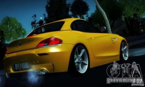 BMW Z4 Stock 2010 для GTA San Andreas вид сверху