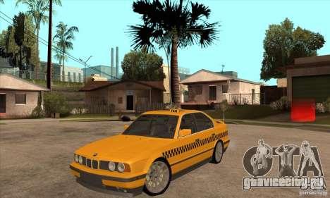 BMW E34 535i Taxi для GTA San Andreas