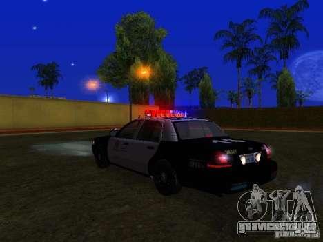 Ford Crown Victoria San Andreas State Patrol для GTA San Andreas вид сверху