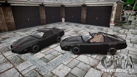 KITT Knight Rider для GTA 4 вид снизу