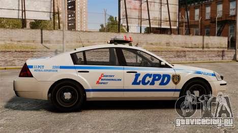 Полицейский Pinnacle ELS для GTA 4 вид слева