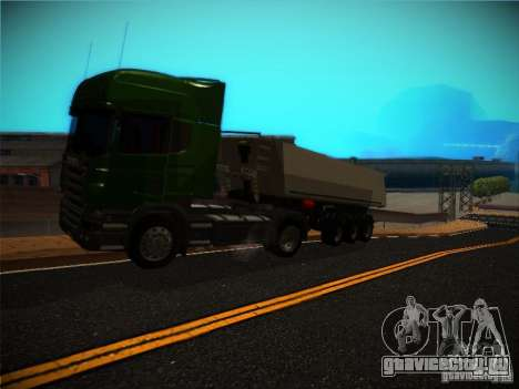 Scania R580 для GTA San Andreas вид сзади