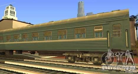 Пассажирский вагон купе 029-28802 для GTA San Andreas вид слева