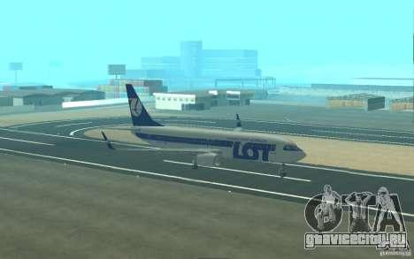 Boeing 737 LOT Polish Airlines для GTA San Andreas вид сверху