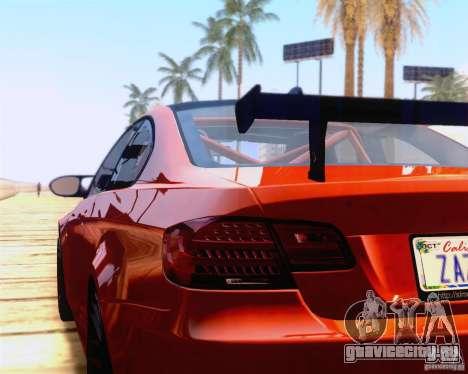 BMW M3 GT-S 2011 для GTA San Andreas вид справа