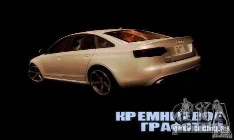 Audi RS6 TT для GTA San Andreas вид сзади слева
