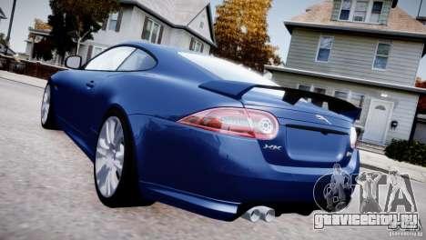Jaguar XKR-S 2012 для GTA 4 вид сзади