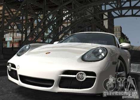 Porsche Cayman S1 для GTA 4 вид сзади