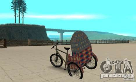 Manual Rickshaw v2 Skin5 для GTA San Andreas вид сзади слева