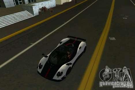 Pagani Zonda Cinque Roadster 2010 для GTA Vice City вид справа