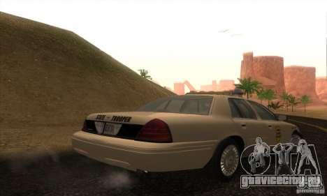 Ford Crown Victoria Iowa Police для GTA San Andreas вид слева