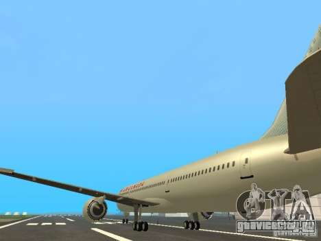 Boeing 787 Dreamliner Air Canada для GTA San Andreas вид сзади слева