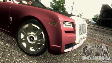 Rolls-Royce Ghost 2010 V1.0 для GTA San Andreas вид сбоку