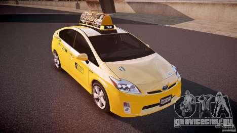 Toyota Prius LCC Taxi 2011 для GTA 4 вид сбоку