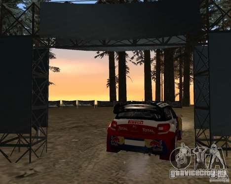Citroen DS3 WRC для GTA San Andreas вид сзади слева