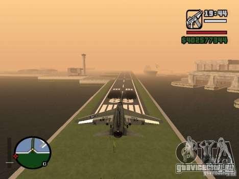 A-7 Corsair II для GTA San Andreas вид сзади слева