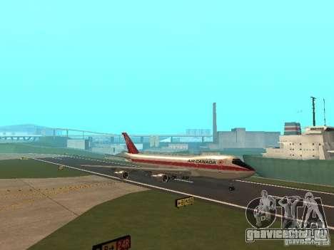 Boeing 747 Air Canada для GTA San Andreas вид изнутри