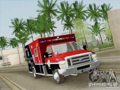 Ford E-350 AMR. Bone County Ambulance для GTA San Andreas вид сверху