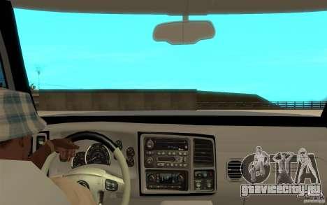 Cadillac Escalade для GTA San Andreas вид сзади