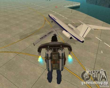 ТУ-154 для GTA San Andreas вид слева
