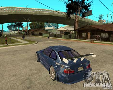 BMW M3 GTR из Need for Speed Most Wanted для GTA San Andreas вид слева