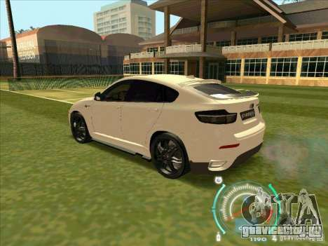 BMW X6 M Hamann Design для GTA San Andreas вид сзади