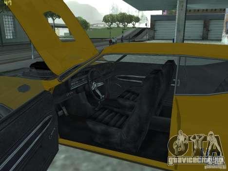 Ford Torino 70 для GTA San Andreas вид изнутри