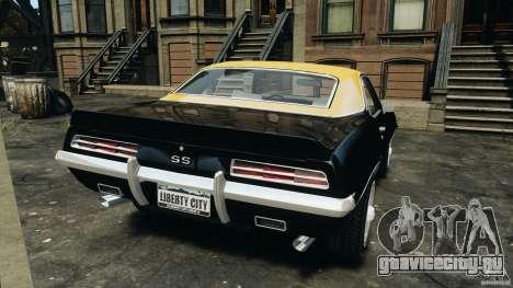 Chevrolet Camaro SS 350 1969 для GTA 4 вид сзади слева