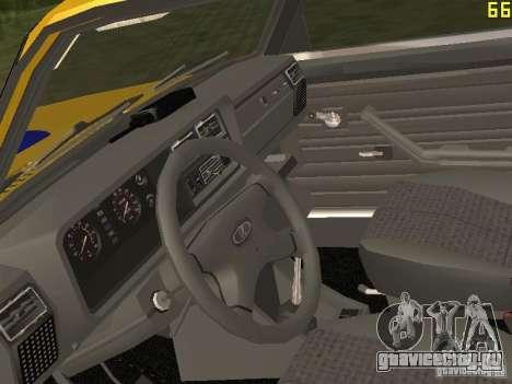 ВАЗ 2107 ГАИ для GTA San Andreas вид сзади