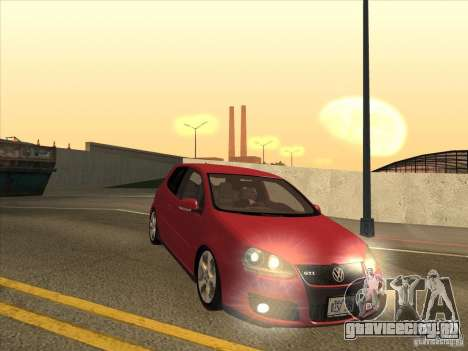 VW Golf Mk5 GTi - Stock: Tunable для GTA San Andreas вид сзади