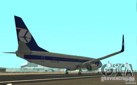 Boeing 737 LOT Polish Airlines для GTA San Andreas вид справа