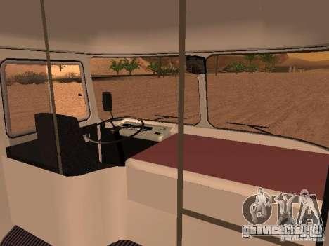 ПАЗ 672.60 для GTA San Andreas вид изнутри
