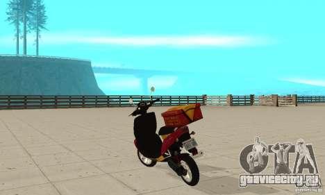 GTAIV Pizzaboy для GTA San Andreas вид сзади слева