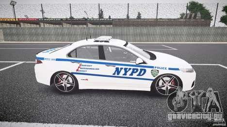 Honda Accord Type R NYPD (City Patrol 1090) ELS для GTA 4 вид изнутри