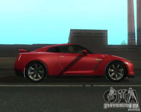 Nissan GTR R35 Spec-V 2010 Stock Wheels для GTA San Andreas вид слева