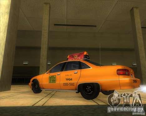 Chevrolet Caprice Taxi 1991 для GTA San Andreas вид слева
