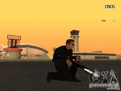 Blue Weapon Pack для GTA San Andreas четвёртый скриншот