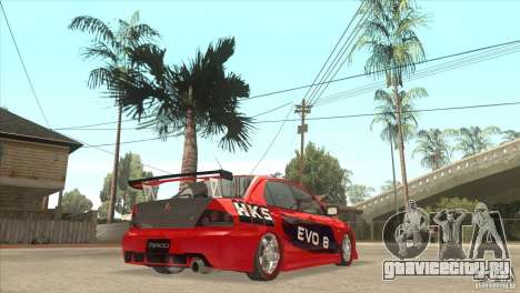 Mitsubishi Evo 8 Tuned для GTA San Andreas вид справа