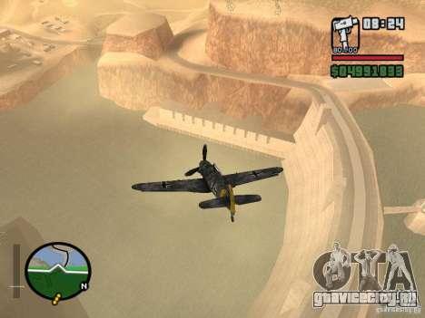 BF-109 G-16 для GTA San Andreas вид справа