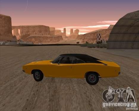 Dodge Charger RT 1968 Bullit clone для GTA San Andreas вид слева