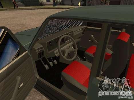 ВАЗ 21074 для GTA San Andreas вид сзади