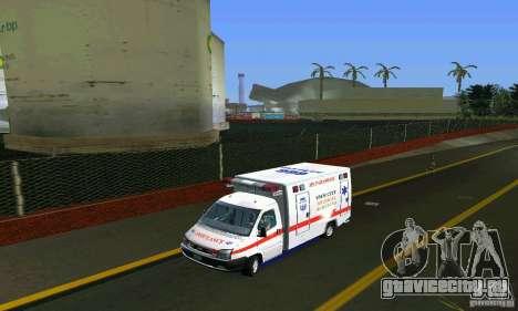 RTW Ambulance для GTA Vice City вид сзади слева