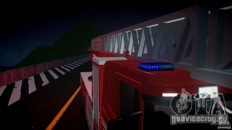Scania Fire Ladder v1.1 Emerglights blue [ELS] для GTA 4 вид снизу