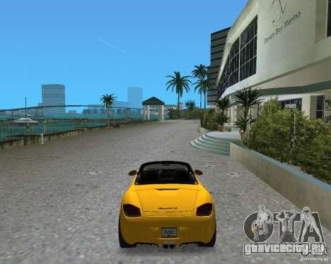 Porsche Boxster 2010 для GTA Vice City вид сзади слева