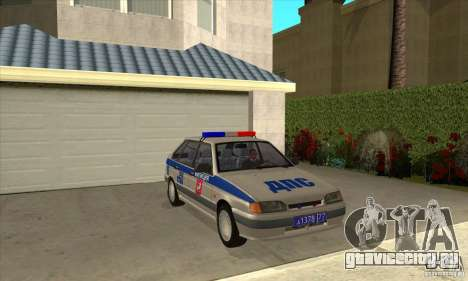 ВАЗ 2114 ДПС для GTA San Andreas вид сзади