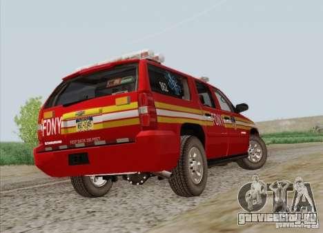 Chevrolet Suburban EMS Supervisor 862 для GTA San Andreas вид сбоку