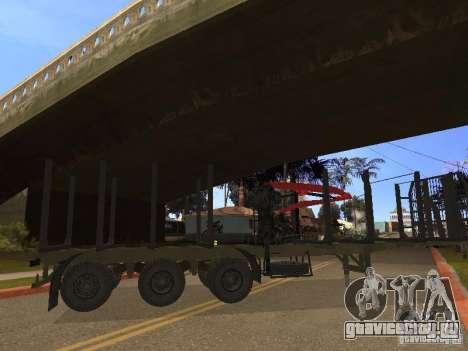 Прицеп МАЗ 99864 для GTA San Andreas вид справа
