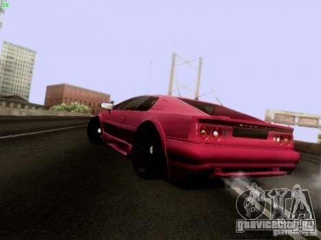 Lotus Esprit V8 для GTA San Andreas вид сзади слева