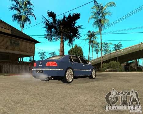 Volkswagen Phaeton для GTA San Andreas вид сзади слева